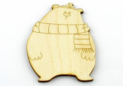 Ведмідь - розмальовка